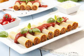 Cannelloni on plate — Stock Photo