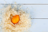 Easter backgroud from colored eggs — Stock Photo