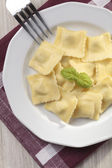 A portion of ravioli on plate — Stock Photo