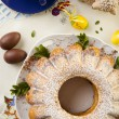 Easter marble ring cake — Stock Photo #42245625