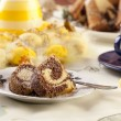 Easter marble ring cake — Stock Photo #42245749