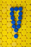 Plastic screw caps — Stock Photo