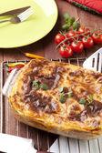 Fresh homemade Lasagne  — Stock Photo