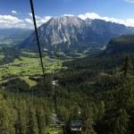 Austria Tauplitz lift view — Stock Photo