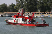River rescue ship — Stock Photo