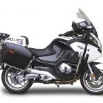 Постер, плакат: Police Motorcycle Side View Angle