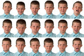 Expressions - Nine Year Old Boy — Stock Photo