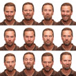 Stock Photo: Expressions - Middle Aged Man