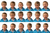 Expressions - five year old boy — Stock Photo