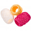 Stock Photo: Three multi-colored skeins
