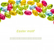Small chocolate eggs candy — Stock Photo