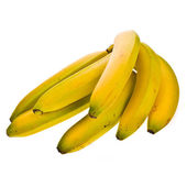 Bunch of bananas isolated on white background background — Stock Photo
