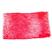 Smear red paint on a white background — Stock Photo