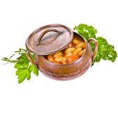 Traditional spanish beans — Stock Photo