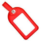 Insigne de cuir rouge isolé sur fond blanc — Photo
