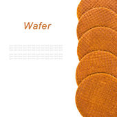 Round ruddy waffles isolated on white background — Stock Photo