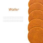 Ronda waffles ruddy aislados sobre fondo blanco — Foto de Stock