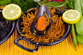 Spanish Mediterranean sea food - noodles — Stock Photo