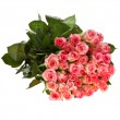 Bouquet of pink roses isolated over white background — Stock Photo