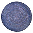 Blue wicker placemat isolated on white background — Stock Photo