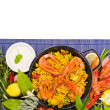 Traditional spanish rice - paella closeup — Stock Photo #37789977