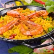 Traditional spanish rice - paellcloseup typical Spanish food — Stock Photo #37790113