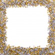 Stock Photo: Gold and silver grains of small size
