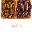 Christmas treats - fresh dates — Stock Photo