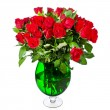 Bouquet of bright red roses — Stock Photo