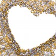 Gold and silver grains of small size — Stockfoto