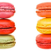 Colorful french macaroons frame — Stock Photo