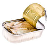 Ring-pull can of sardines in oil — Stock Photo