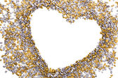 Gold and silver grains of small size — Stock Photo