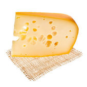 Pieza de queso emmental — Foto de Stock