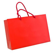 Red paper shopping bag — Stock Photo