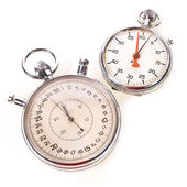Large and small hand-held stopwatches — Stock Photo