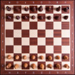The initial setup of a chess board — Stock Photo
