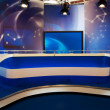 Stock Photo: TV broadcast studio