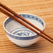 Chopstick on bamboo — Stock Photo
