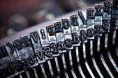 παλιά γραφομηχανή επιστολή — Φωτογραφία Αρχείου