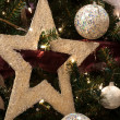 Christmas Star and  ball decoration — Foto de Stock