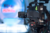 Television studio camera — Stock Photo