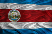 Costa Rica Flag — Stock Photo