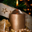 Christmas candle — Stock Photo #27601135