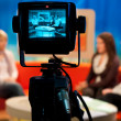 TV studio - Video camera viewfinder — Stock Photo #27604785