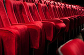 Red theater chairs — Stock Photo