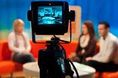 TV studio - Video camera viewfinder — Stock Photo