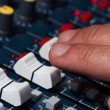 Audio mixing board — Foto Stock