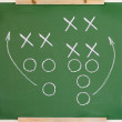 Football play diagram — Stockfoto