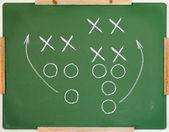 Diagrama de juego de fútbol — Foto de Stock